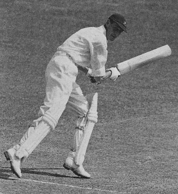 Alan Melville batting