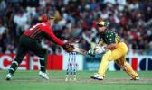 Richardson stumps Bevan off Symcox... Australia v South Africa, 1st ODI at the SCG, Thursday November 4th 1997