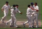 The Australian team celebrate the retention of the Ashes The Ashes, 1998/99, 3rd Test Australia v England Adelaide Oval 11,12,13,14,15 December 1998