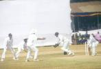 Keeper Youraj Singh gleefully accepts a catch from Sunil Oasis off Kanwaljit Singh but the appeal is not upheld, Kerala v Hyderabad, Ranji Trophy (South Zone League) 1999/00, 24-27 November 1999 at Regional Engineering College Ground, Kozhikode