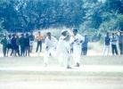 MP Sorab gets one past a lunging Daniel Manohar at silly point, Kerala v Hyderabad, Ranji Trophy (South Zone League) 1999/00, 24-27 November 1999 at Regional Engineering College Ground, Kozhikode