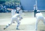 Opener S Sasikanth square-drives MF Ahmed through point, Kerala v Hyderabad, Ranji Trophy (South Zone League) 1999/00, 24-27 November 1999 at Regional Engineering College Ground, Kozhikode.