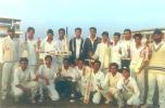 The 1999-2000 champions Punjab team with Cooch Behar Trophy at Keenan Stadium, Jamshedpur, Cooch Behar Knock-outs, 19 December 1999