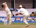 Stuart Carlisle plays straight to a Sodhi delivery, Zimbabwe in India, 2000/01, 1st One-Day International, India v Zimbabwe, Barabati Stadium, Cuttack, 02 December 2000.