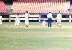 PC Menon plays the ball to forward short leg off Vadiaraj. Ranji Trophy South Zone League 2000/01, Kerala v Karnataka, Nehru Stadium, Kochi, 22-25 November 2000