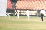 M Beerala plays the ball down from an Oasis delivery. Ranji Trophy South Zone League 2000/01, Kerala v Karnataka, Nehru Stadium, Kochi, 22-25 November 2000