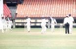 AnanthaPadmanabhan and his team appeal for B Akhil's caught behind. Ranji Trophy South Zone League 2000/01, Kerala v Karnataka, Nehru Stadium, Kochi, 22-25 November 2000