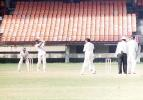 Ganesh lofts a RamPrakash delivery. Ranji Trophy South Zone League 2000/01, Kerala v Karnataka, Nehru Stadium, Kochi, 22-25 November 2000
