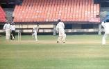 MP Sorab takes an evasive action to a leg side Prasad delivery. Ranji Trophy South Zone League 2000/01, Kerala v Karnataka, Nehru Stadium, Kochi, 22-25 November 2000