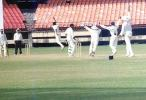 Oasis looks back as Vadiaraj appeals. Ranji Trophy South Zone League 2000/01, Kerala v Karnataka, Nehru Stadium, Kochi, 22-25 November 2000
