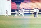 Dharmichand being square cut by S oasis for a boundary. Ranji Trophy South Zone League 2000/01, Kerala v Karnataka, Nehru Stadium, Kochi, 22-25 November 2000