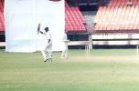 Oasis acknowledges the cheers after reaching his sixth Ranji century for Kerala. Ranji Trophy South Zone League 2000/01, Kerala v Karnataka, Nehru Stadium, Kochi, 22-25 November 2000
