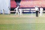 Yohannan is delighted after trapping M Beerala LBW. Ranji Trophy South Zone League 2000/01, Kerala v Karnataka, Nehru Stadium, Kochi, 22-25 November 2000