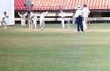 Ganesh is cleaned up by M Suresh kumar. Ranji Trophy South Zone League 2000/01, Kerala v Karnataka, Nehru Stadium, Kochi, 22-25 November 2000