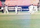 VST Naidu walks back after being caught at first slip off RamPrakash. Ranji Trophy South Zone League 2000/01, Kerala v Karnataka, Nehru Stadium, Kochi, 22-25 November 2000