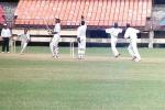 V Bharadwaj is dejected after being bowled by M Suresh Kumar. Ranji Trophy South Zone League 2000/01, Kerala v Karnataka, Nehru Stadium, Kochi, 22-25 November 2000