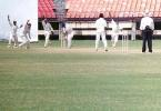 Suresh Kumar bowls to Ganesh. Ranji Trophy South Zone League 2000/01, Kerala v Karnataka, Nehru Stadium, Kochi, 22-25 November 2000