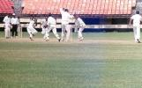 Akhil being caught at forward short leg by MP Sorab off M Suresh Kumar. Ranji Trophy South Zone League 2000/01, Kerala v Karnataka, Nehru Stadium, Kochi, 22-25 November 2000