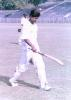 Rajesh Borah walks back to the pavilion. Ranji Trophy East Zone League, 2000/01, Tripura v Assam, Maharaja Bir Bikram College Stadium, Agartala, 14-16 December 2000.