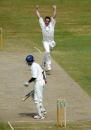 James Kirtley celebrates the wicket of Kumar Sangakkara